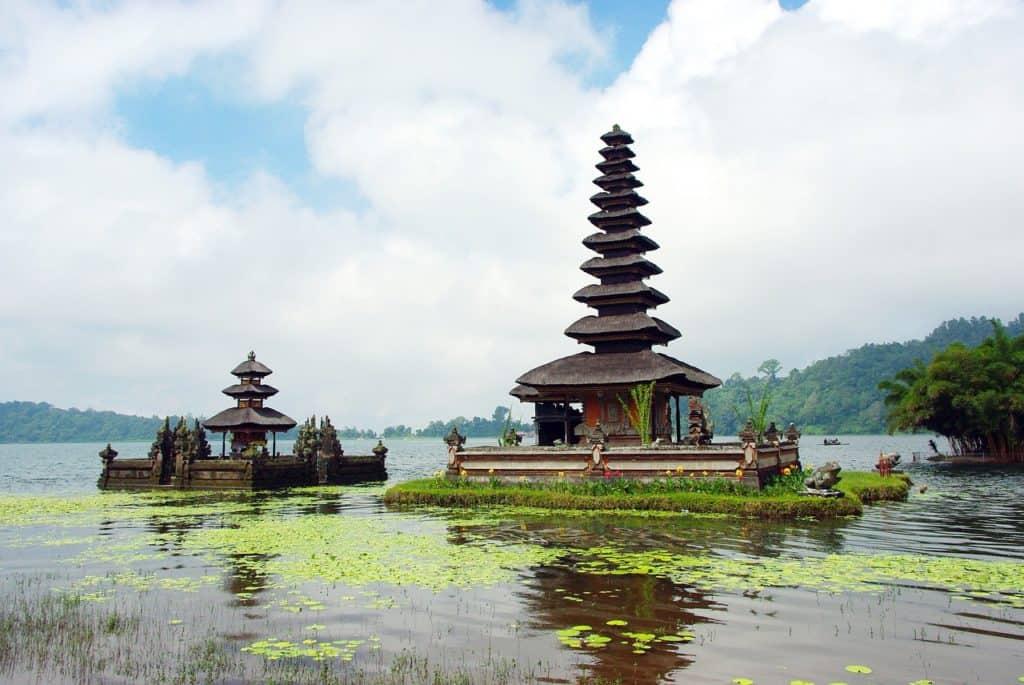 Beratan Temple Bali Pagoda on Lake