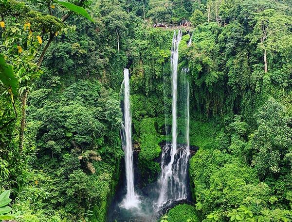 Sekumpul Waterfall high vista in Bali