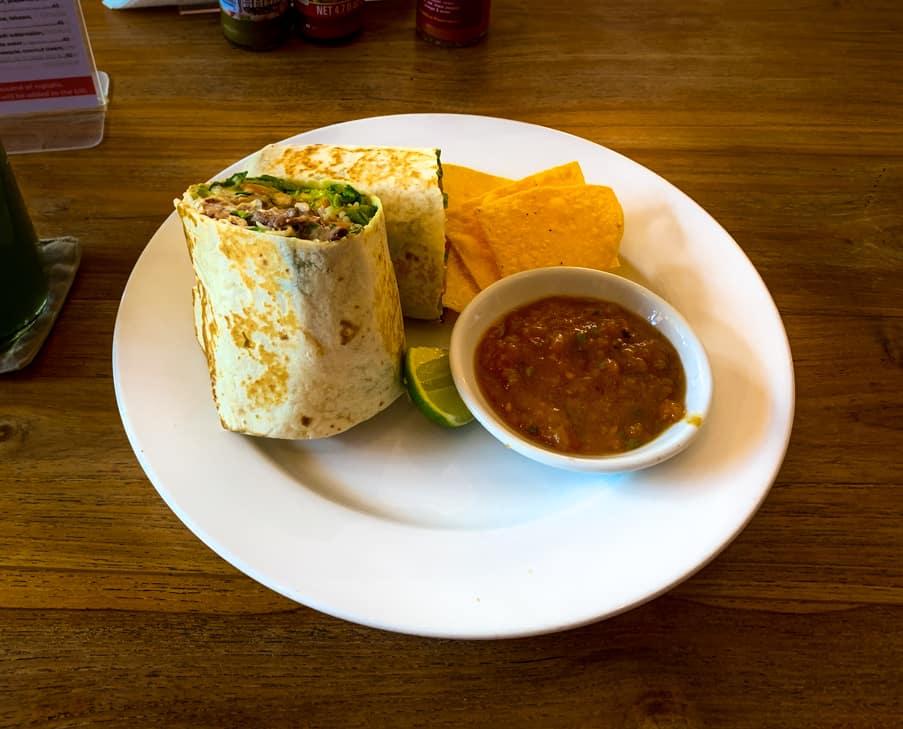 Steak Burrito in Ubud, Bali