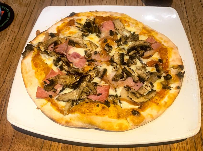 Pizza Ham and Mushrooms Photo in Ubud