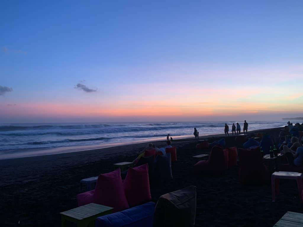 Canggu Sunset from a beach club Bali