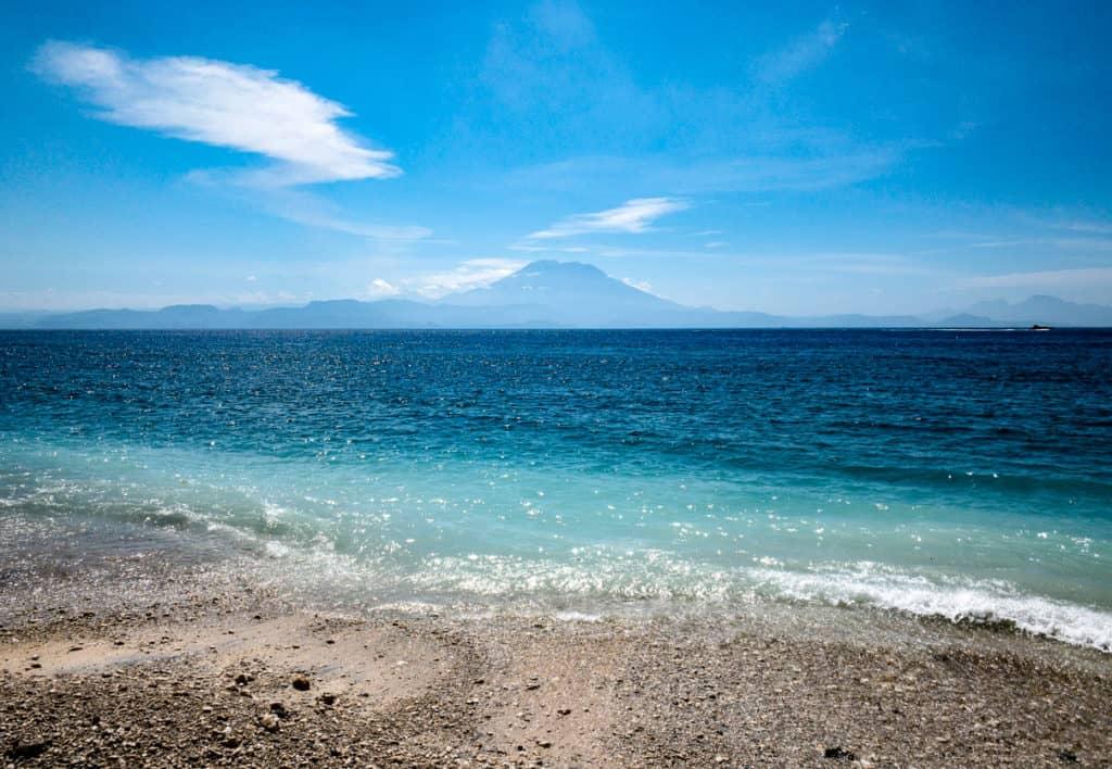 Mt Agung from Gili Air