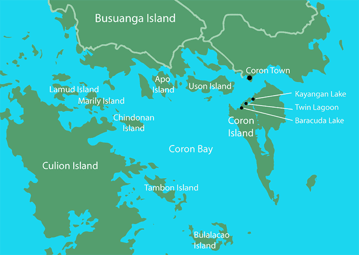 Map of Coron, Philippines Area