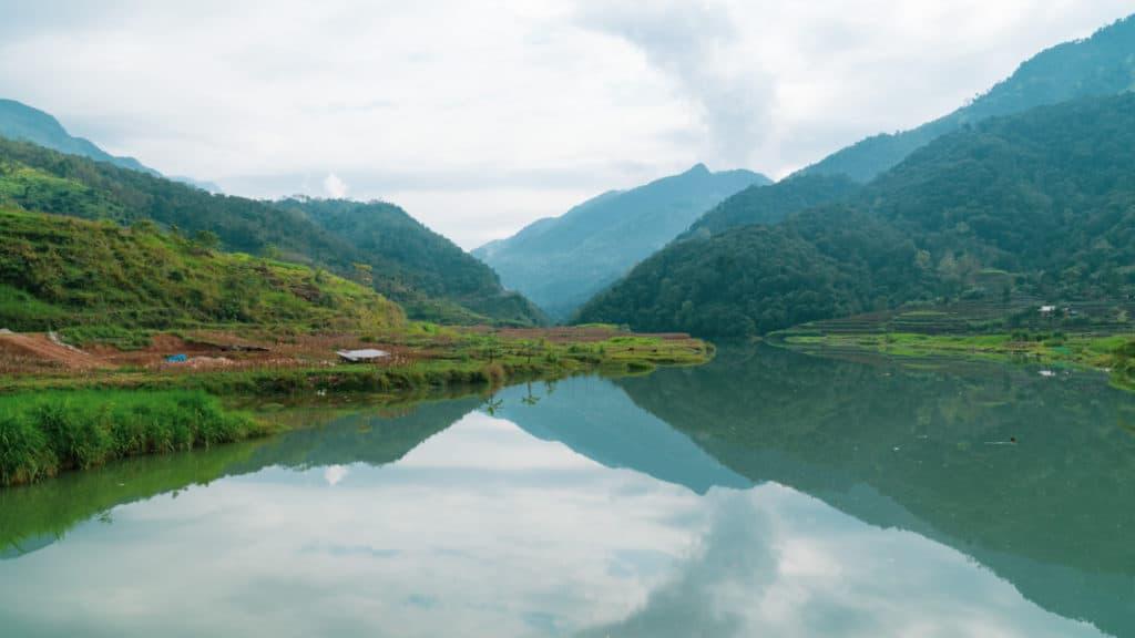 Mirror like Song Lo River Ha Giang Loop Vietnam