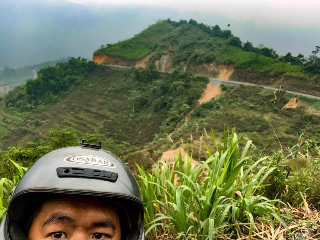 selfie of me at Ha Giang Loop