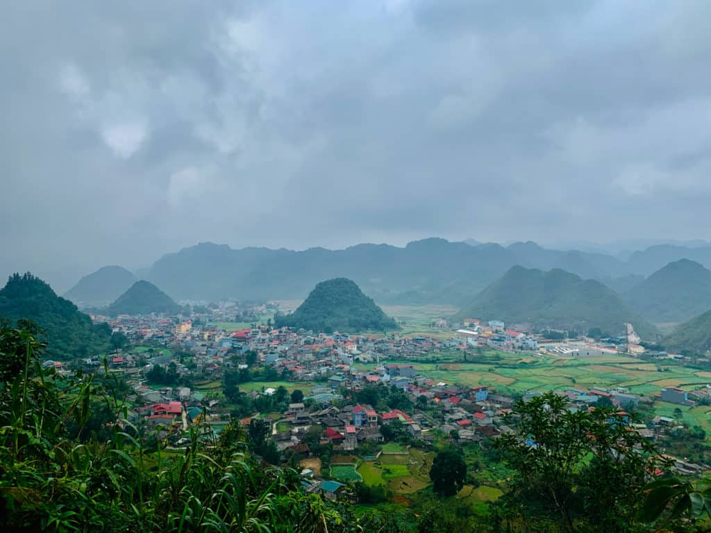 Quan Ba town on Ha Giang loop Vietnam
