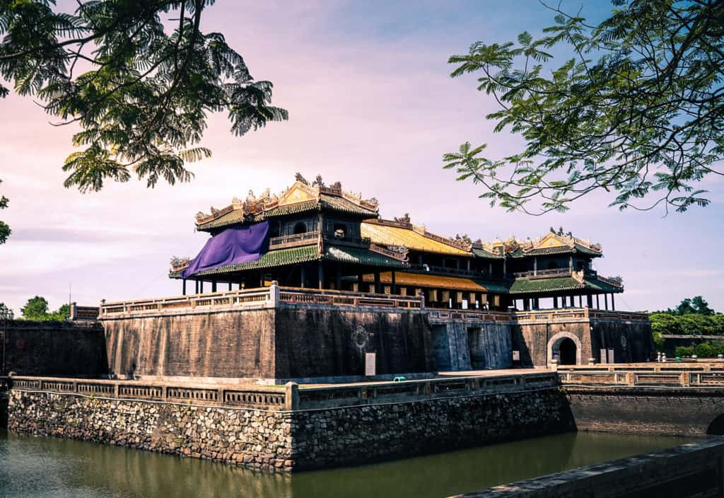 Hue, Vietnam Citadel at sunset