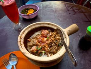 Chicken Rice Claypot dish from Hong Kee in Chinatown, Kuala Lumpur, Malaysia