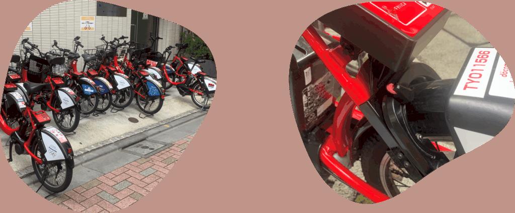 Docomo Bike Station and Wheel Lock in Tokyo