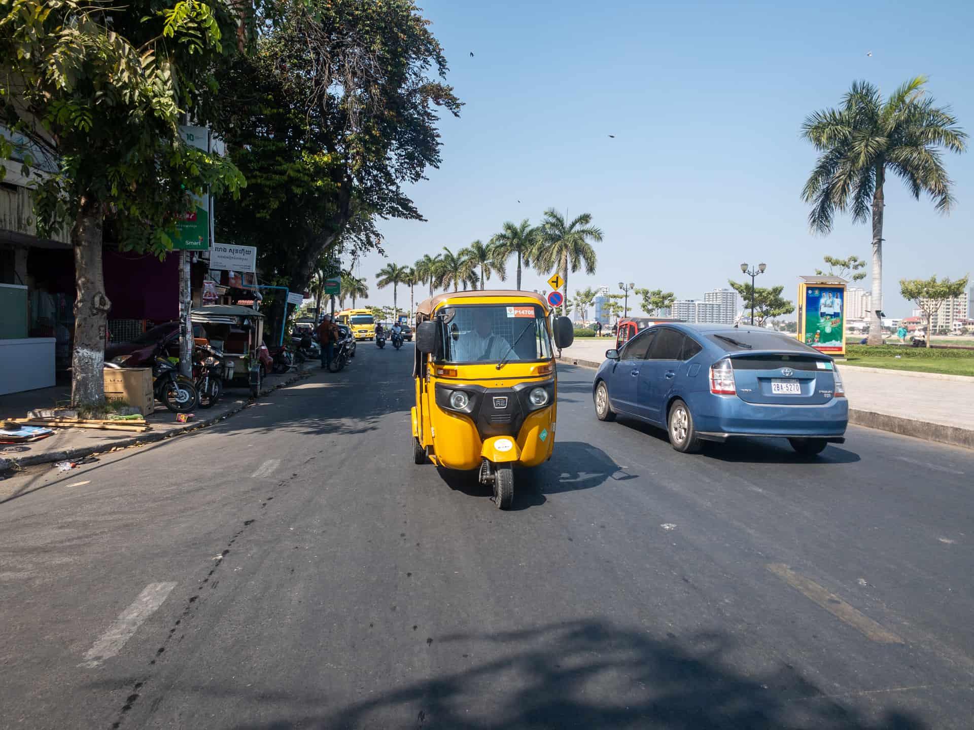 Uber Cambodia Feature Image, Yellow Tuk Tuk
