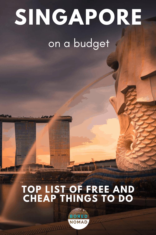 Singapore on a budget