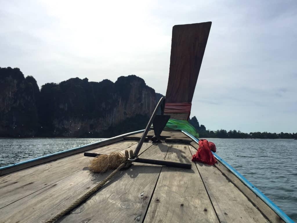 Boat pov from Ao nang to Railay Beach
