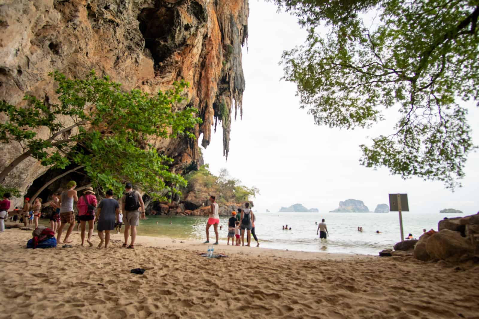 Beach near Princess Cave on Railay Peninsula Thailand