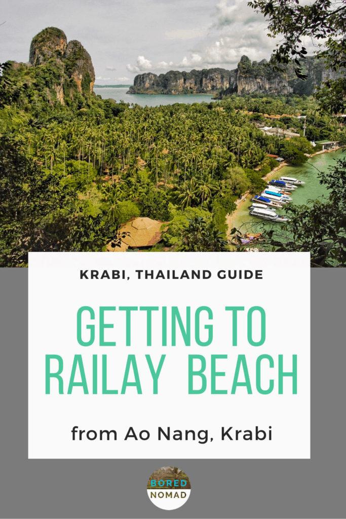 Railay Beach from Ao nang Thailand Pin