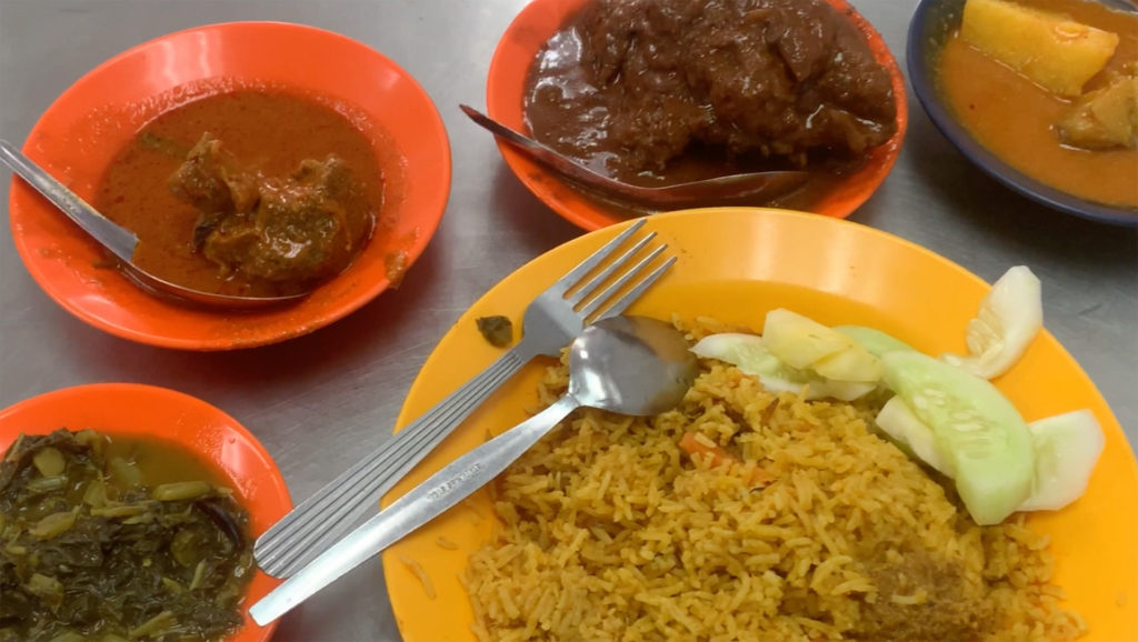 Tajuddin Hussain Nasi Kandar plates of food