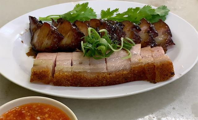 char siew and siu yok roasted pork dish from Hong Kee Wan Penang